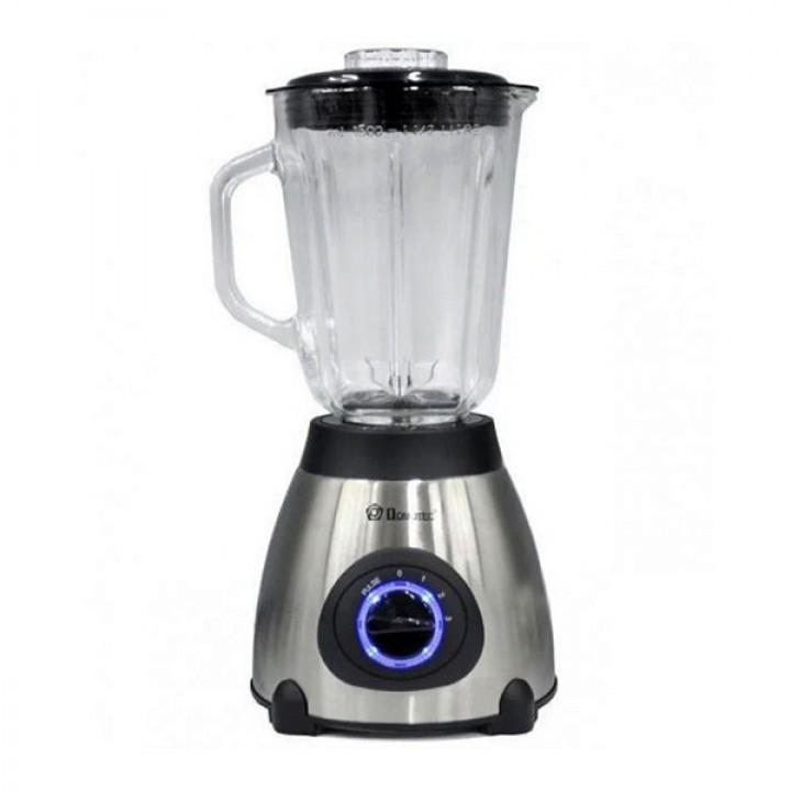 Мощный блендер измельчитель со стеклянной чашей Domotec MS-6610 на 1000 Вт (2 в 1 с кофемолкой)
