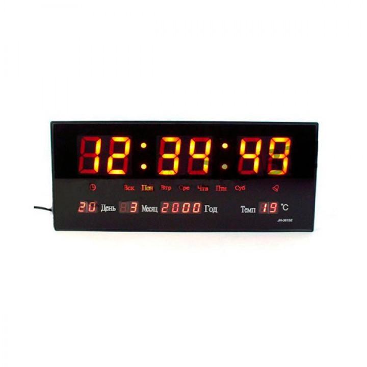 Часы настольные электронные 3615 красные с LED подсветкой