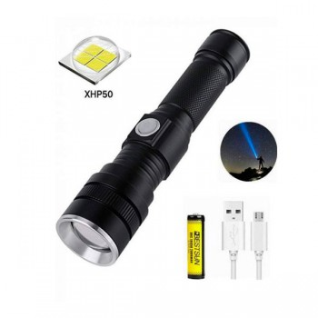Ручной аккумуляторный фонарь BL-611-P50 1500 Lumen