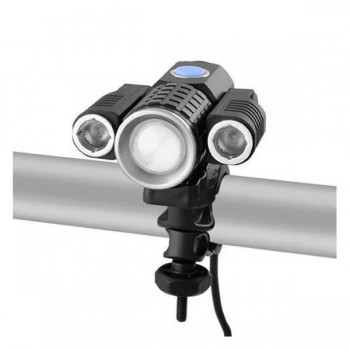 Налобный фонарь - велофара W602-T6 + 2 XPE