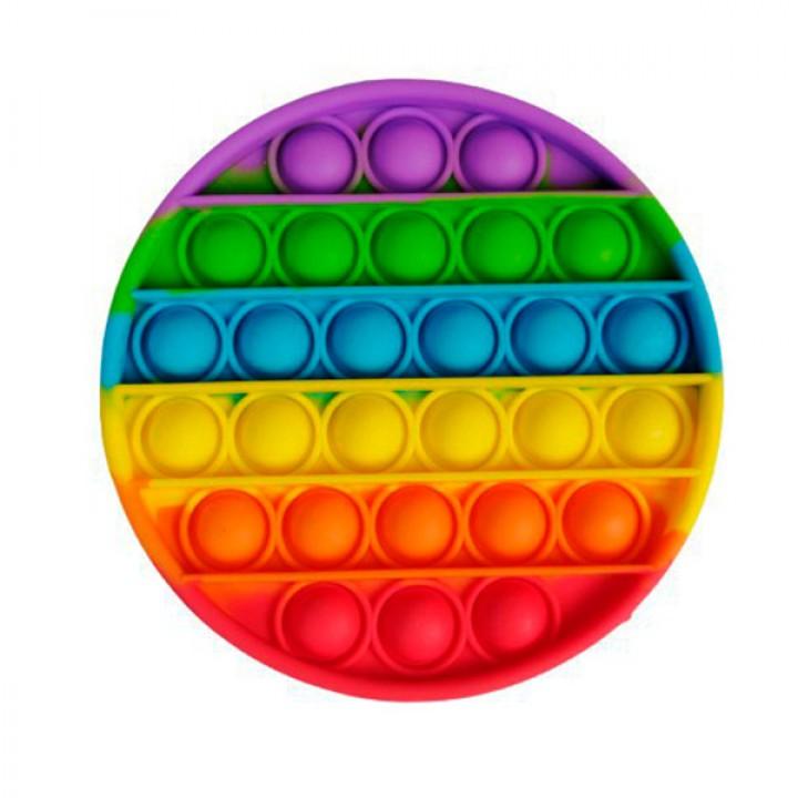Мягкая игрушка разноцветная Поп ит Бесконечная пупырка антистресс Pop It Круг