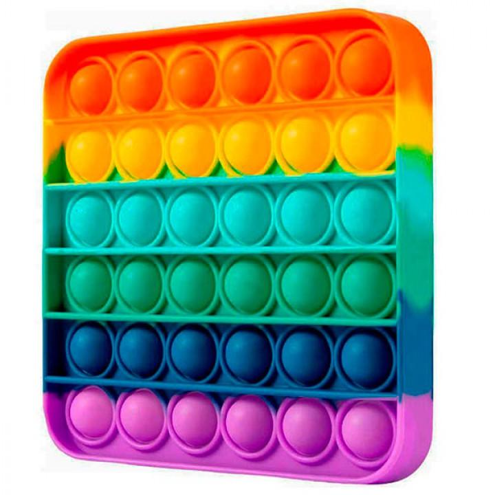 Мягкая игрушка разноцветная Поп ит Бесконечная пупырка антистресс Pop It Радуга