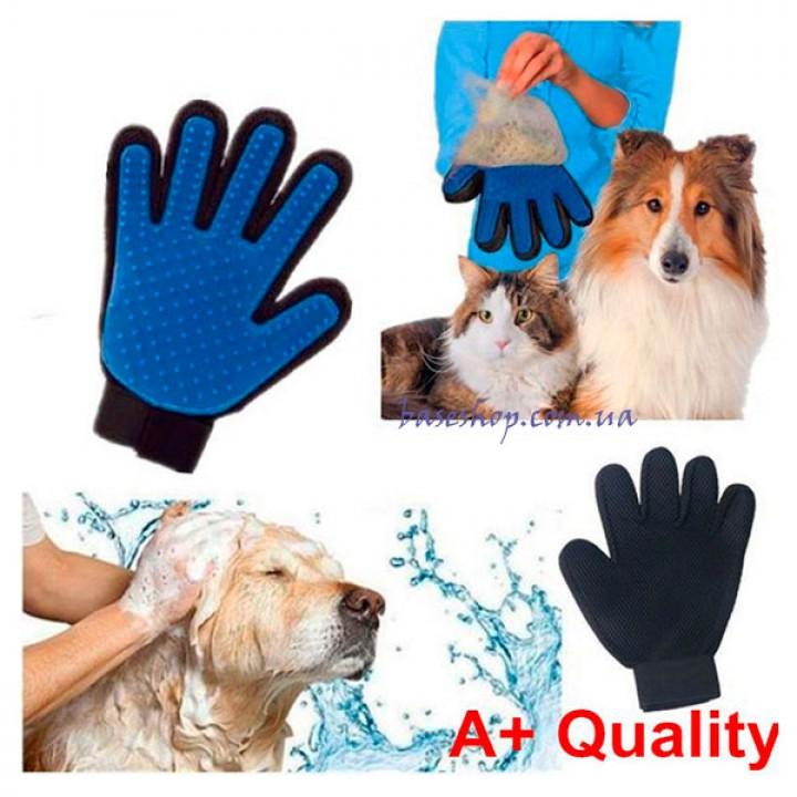 Перчатка для вычесывания шерсти True Touch Glove