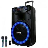 Колонка аккумуляторная с двумя радиомикрофонами Sky Sound SS-1011 200W (Bluetooth/USB/FM/TWS)
