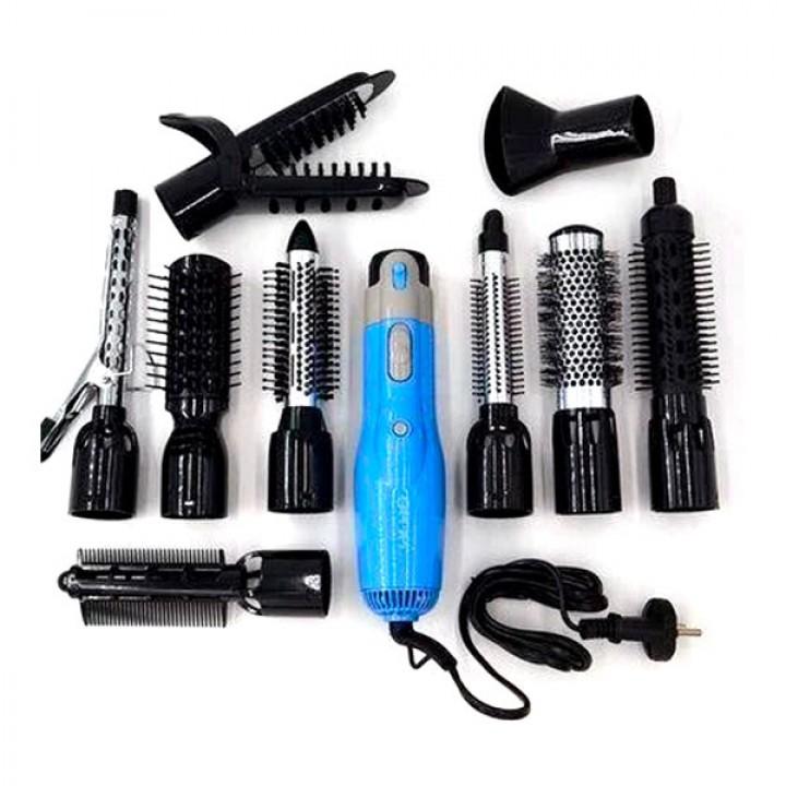 Фен-стайлер для волос 10 в 1 Gemei GM-4833 1000W