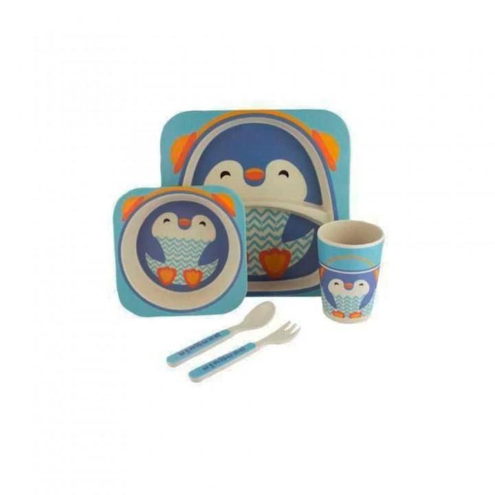 Набор бамбуковый Пингвин 5 предметов
