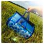 Пляжный коврик - сумка из бамбука 150*180 см / пляжная подстилка / коврик для пикника / коврик для моря