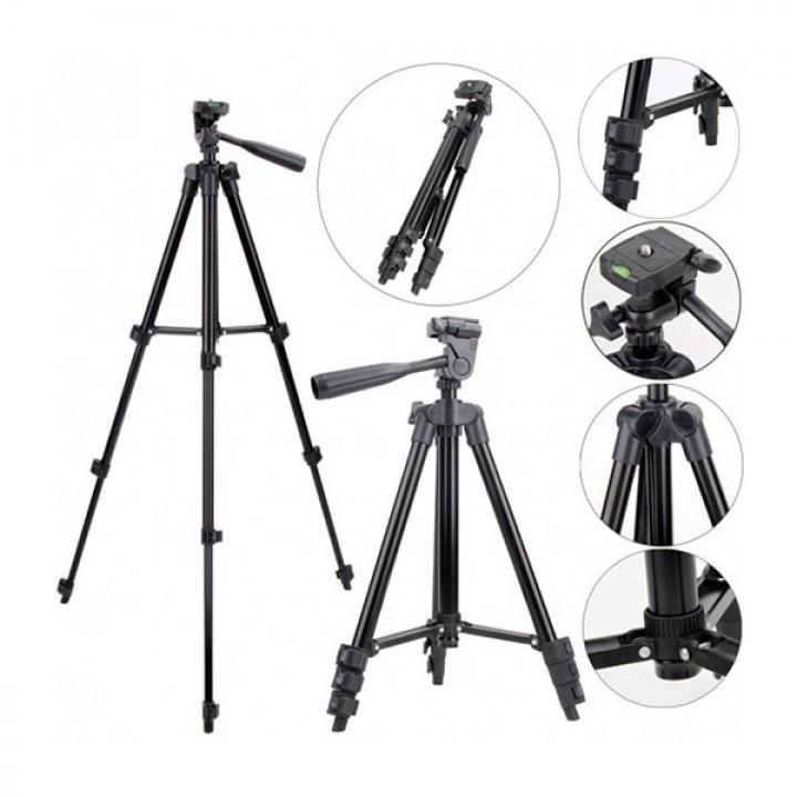 Универсальный штатив для фотоаппарата трипод 3120A Black + чехол