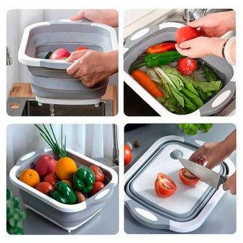 Складная разделочная доска для мытья и резки овощей