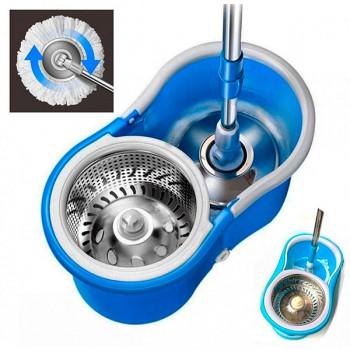 Швабра-лентяйка Easy Mop с ведром и автоматическим отжимом круглая