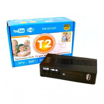 Тюнер T2 DVB Megogo, цифровой ресивер с поддержкой wifi адаптера