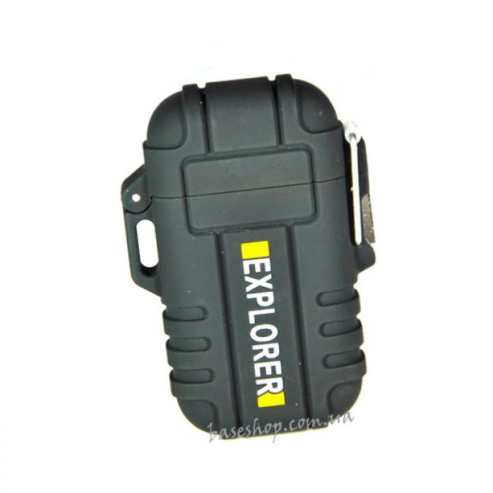 Электроимпульсная USB зажигалка Black Owl с двойной электро дугой