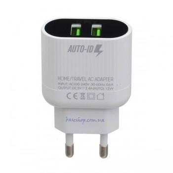 Сетевое зарядное устройство EMY MY-202 с кабелем Micro USB